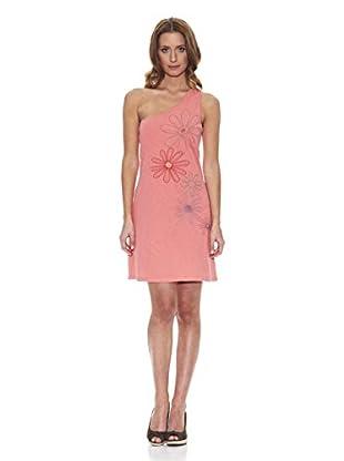 Peace & Love Vestido Liso (Coral)