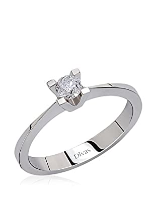 Divas Diamond Ring 0, 09 Carat Diamond Solitaire Ring (Gold)