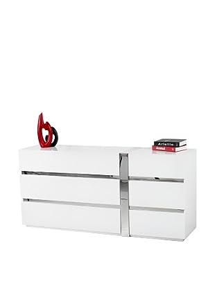 Casabianca Furniture Cristallino Dresser, White