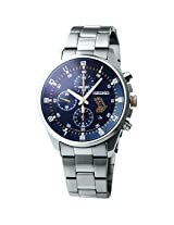 Seiko Blue Dial Chronograph Date Watch for Men