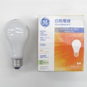 【クリックで詳細表示】GE 【2個パック】白熱電球 100V 40W形 E26口金 LW100V36WGE2PK: ホーム&キッチン