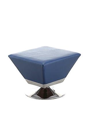 Ceets Diamond Ottoman, Blue