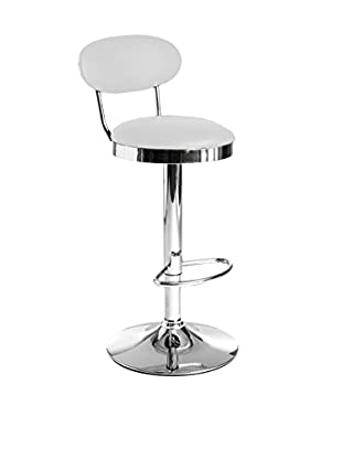 Contemporary Living Set Taburete de bar 2 Uds. Pegaso Blanco