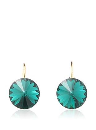 Yasmine Pendientes Emerald - Golden