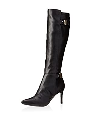 Calvin Klein Women's Nada Tall Boot (Black Calf)