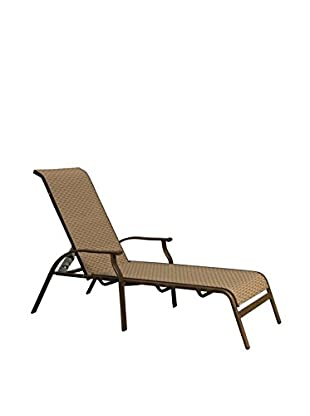 Panama Jack Island Breeze Stackable Sling Chaise Lounge, Espresso