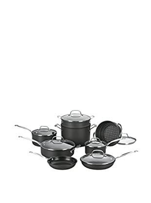 Cuisinart Chef's Classic 14-Piece Nonstick Cookware Set, Black