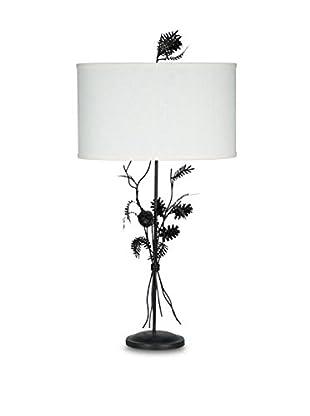 Palecek Pinecone Cluster Lamp Pre-Wired, Dark Metal