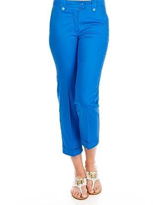 Cortefiel Pantalón Vestir Sarga (Azul)