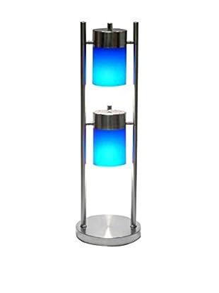 ORE International 2-Light Adjustable Table Lamp, Blue