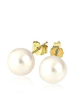 Atelier Victoire Pendientes Oro y Perla Dorado