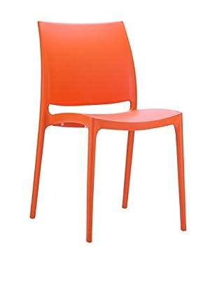 Officine Fiam Stuhl 2er Set Maya orange