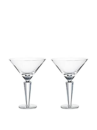Rogaška Set of 2 Romeo 10-Oz. Martini Glasses, Clear