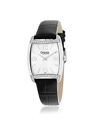 Caravelle by Bulova Women's 43T09 Black/Silver Leather Watch