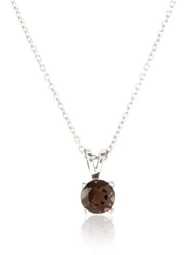 Catherine Angiel Silver & Smokey Topaz Wire Basket Necklace