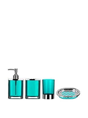Premier Housewares Bad-Accessoires 4 tlg. Set 1601513 türkis