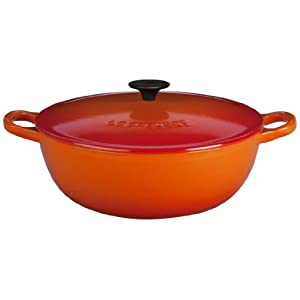 Le Creuset Enameled Cast-Iron 2-3/4-Quart Soup Pot, Flame