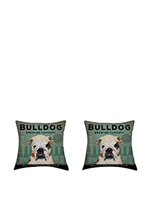 LITTLE FRIENDS by MANIFATTURE COTONIERE Kissenbezug 2er Set Bulldog