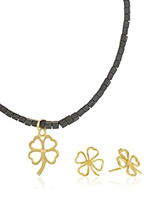 Córdoba Jewels Set Collier und Ohrringe vergoldetes Silber 925