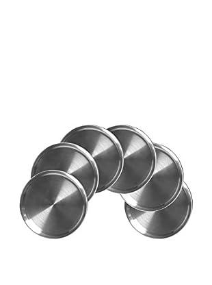 BergHOFF Geminis 6-Piece Stainless Steel Coaster Set
