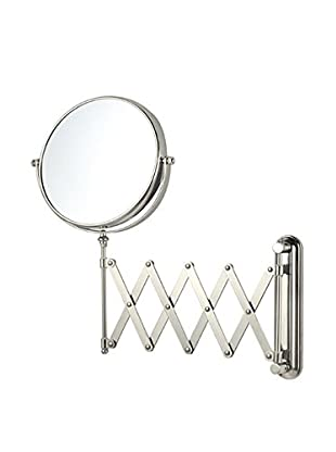 Nameeks Double Sided Adjustable Arm 3X Makeup Mirror Wall Mounted, Satin Nickel Finish