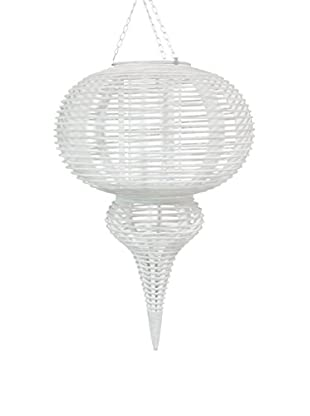 Three Hands Hanging Bamboo Lantern, White