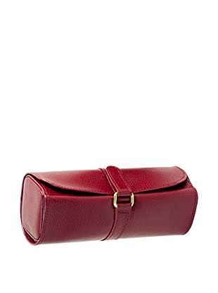 Bey-Berk Red Leather Jewelry Roll