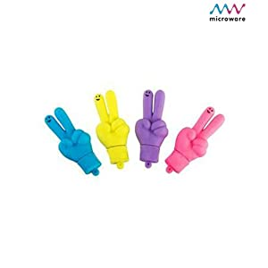 Microware 16GB Hand Shape Cheering Hand Designer Pendrive (Blue/Yellow/Pink)