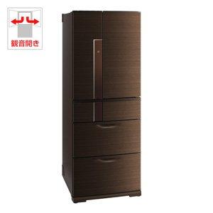 三菱 600L 6ドア冷蔵庫(シャイニーブラウン)MITSUBISHI 置けるスマート大増量 切れちゃう瞬冷凍 MR-JX60W-BR
