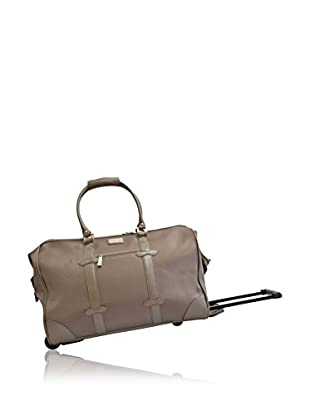 Adrienne Vittadini Deluxe Durable Rolling Duffle, Taupe