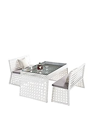 International Designs USA Sun Terrace Outdoor 3-Piece Set, White