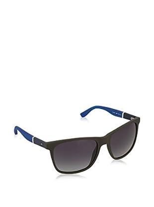 Tommy Hilfiger Gafas de Sol 1281/S HD (58 mm) Marrón Oscuro / Azul