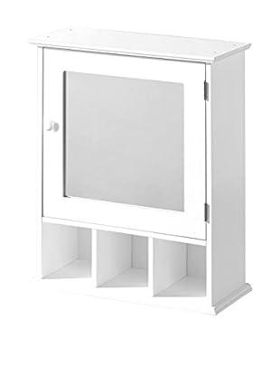 Premier Housewares Spiegelschrank 2401451 weiß