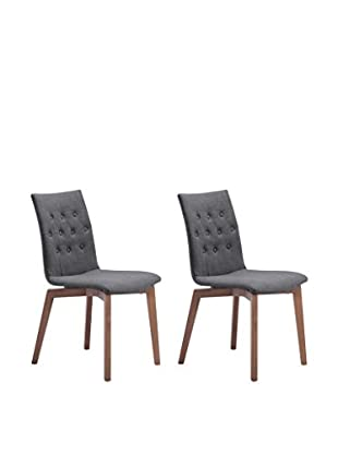 Zuo Modern Orebro Set of 2 Mid Century Dining Chairs