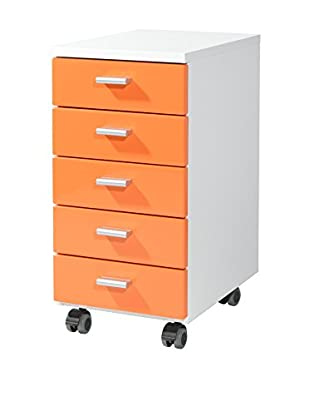 Germania Schubladenschrank 4099 weiß/orange