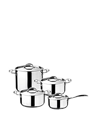 Mepra 8-Piece Glamour Stone Kitchen Set, Silver