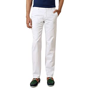 Louis Philippe Light Cotton Twill Trouser