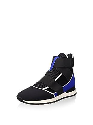 Bikkembergs Damen Kate 652 M.Shoe Cut Out W Lycra/Leather Hohe Sneakers, Schwarz (Black/Blue), 40 EU