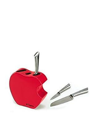 Tognana  Messerblock 4 tlg. Set Antony Apple Kit rot
