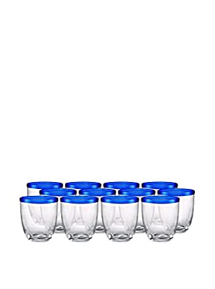Artland Festival Set of 12 Double Old Fashioned Glasses, Cobalt