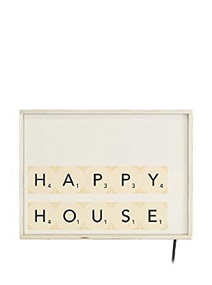 LITTLE NICE THINGS Panel Decorativo Luminoso LED Happy House
