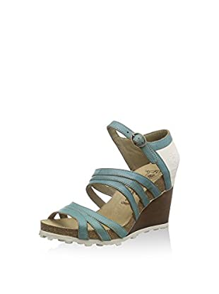 FLY London Anke 617, Sandales femme, Multicolore (GROUND/OFFWHITE 000), 39