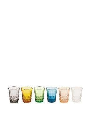 VILLA D'ESTE HOME Glas 6er Set Nobilis mehrfarbig