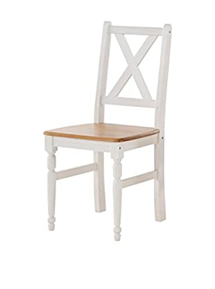 2er Set Stühle weiß 41 x 49 x 96 cm
