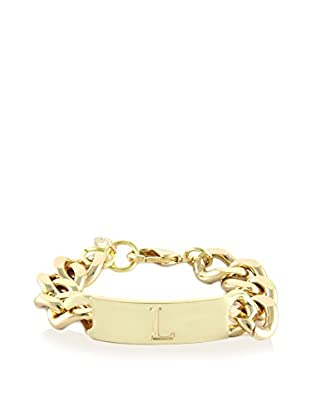 Ettika 18K Gold-Plated L Initial ID Bracelet