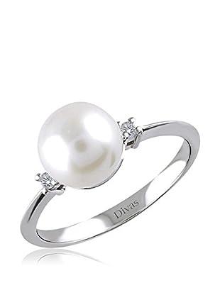 Divas Diamond Anillo Diamante Pearl (Plata)