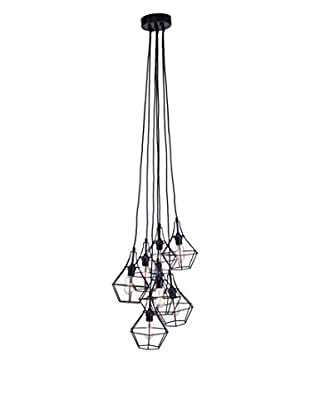 Zuo Palmerston Ceiling Lamp, Distressed Black