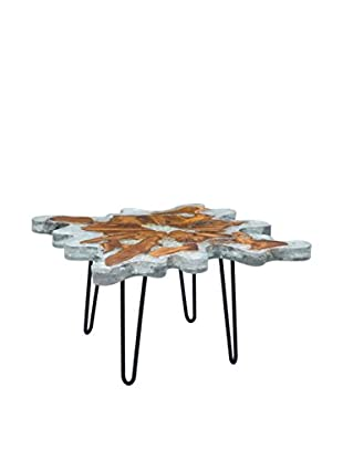 Zuo Jigsaw Square Coffee Table, Natural