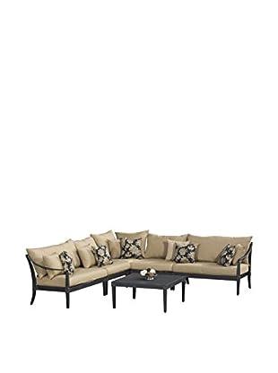 RST Brands Astoria 6-Piece Corner Sectional Set, Beige
