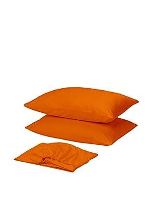 Homemania Betttuch und Kissenbezug orange 210 x 250 cm